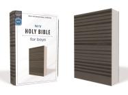 Niv, Holy Bible for Boys, Soft Touch Edition, Leathersoft, Gray, Comfort Print Cover Image