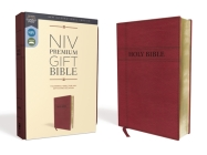 Niv, Premium Gift Bible, Leathersoft, Burgundy, Red Letter Edition, Comfort Print Cover Image