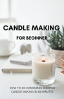 Candle Making for Beginner: How to do homemade Scented candle making in 60 minutes Cover Image