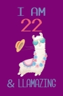 I am 22 and Llamazing: Llama Sketchbook for for 22 Year Old Girls Cover Image