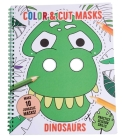 Color & Cut Masks: Dinosaurs: (Origami For Kids, Art books for kids 4 - 8, Boys and Girls Coloring, Creativity and Fine Motor Skills) Cover Image