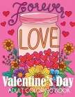 Valentine's Day Adult Coloring Book Cover Image