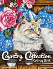 Country Collection Coloring Book: For Adult Featuring Relaxing Pages of Country scenes, Lovely Houses, Beautiful Gardens and Flowers... Cover Image