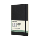Moleskine 2022  Weekly Horizontal Planner, 12M, Large, Black, Soft Cover (5 x 8.25) Cover Image