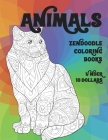 Zendoodle Coloring Books - Animals - Under 10 Dollars Cover Image