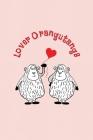 Lover Orangutangs: Valentine's Day Gift - ToDo Notebook in a cute Design - 6