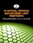 10 Actual, Official Out-Of-Print LSAT Preptests: Official LSAT Preptests 1-6, 8, 17, 39, and 40 (Cambridge LSAT) Cover Image
