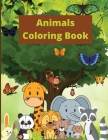Animals Coloring Book: Animal Coloring Book for Kids Ages 2-4/4-8 / Fun and Educational Coloring Book Cover Image