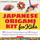 Japanese Origami Kit for Kids: 92 Colorful Folding Papers and 12 Original Origami Projects for Hours of Creative Fun! [Origami Book with 12 Projects] Cover Image