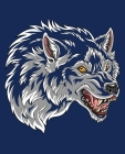 Blue Wolf Spirit Composition Notebook 2: Show Your Pack Pride for School, Home, or Office Cover Image