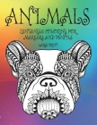 Zentangle Coloring for Markers and Pencils - Animals - Large Print Cover Image
