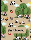 Sketchbook: Novelty Cute Panda Sketchbook Ramen Noodles Gift - Sketchbook 8.5x11 Cover Image