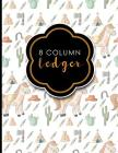 8 Column Ledger: Ledger Pad, Accounting Ledgers For Small Business, Home Ledger Book, Cute Cowboys Cover, 8.5 x 11, 100 pages Cover Image