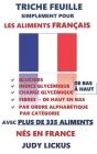 Triche Feuille Simplement Pour Les Aliments Français: GLUCIDES, INDICE GLYCÉMIQUE, CHARGE GLYCÉMIQUE Énuméré de faible à élevé + FIBRES Énuméré haut à Cover Image