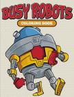 Busy Robots Coloring Book Cover Image