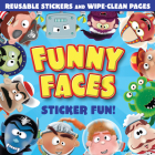 Funny Faces Sticker Fun! (Blue) Cover Image