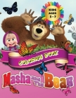 Masha And The Bear - Coloring Book Kids Ages 3 - 7: All happy with this coloring book of Masha and the Bear, the characters much loved by children. Cover Image