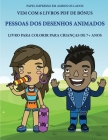 Livro para colorir para crianças de 7+ anos (Pessoas dos desenhos animados): Este livro tem 40 páginas coloridas sem stress para reduzir a frustração Cover Image