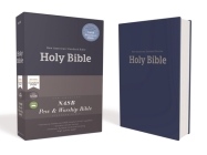 Nasb, Pew and Worship Bible, Hardcover, Blue, 1995 Text, Comfort Print Cover Image