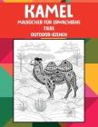 Malbücher für Erwachsene - Outdoor-Szenen - Tiere - Kamel Cover Image