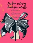 Fashion coloring book for adults Cover Image