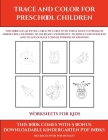 Worksheets for Kids (Trace and Color for preschool children): This book has 50 extra-large pictures with thick lines to promote error free coloring to Cover Image