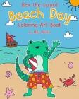 Rex the Lizard Beach Day Coloring Art Book Cover Image