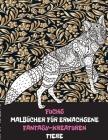 Malbücher für Erwachsene - Tiere - Fantasy-Kreaturen - Fuchs Cover Image