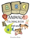 ABC Animal Coloring Book For Kids: A Fun Game for 3-8 Year Old - Picture For Toddlers & Grown Ups - Letters, Shapes, Color Animals-8.5 x 11