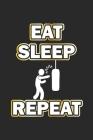 Eat Sleep Repeat: Monatsplaner, Termin-Kalender- Geschenk-Idee für Boxer - A5 - 120 Seiten Cover Image