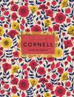 Cornell Notes Notebook: Floral Print - 120 White Pages 8.5x11 Inch - Note Taking System Cover Image