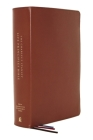 Nasb, Charles F. Stanley Life Principles Bible, 2nd Edition, Genuine Leather, Brown, Thumb Indexed, Comfort Print: Holy Bible, New American Standard B Cover Image