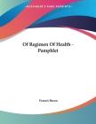 Of Regimen Of Health - Pamphlet Cover Image