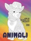 Libri da colorare Zen per adulti - Grande stampa - Animali Cover Image