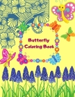 Butterfly Coloring Book: A Perfect Nature Coloring Book For Kids Cover Image