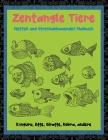 Zentangle Tiere - Nettes und stressabbauendes Malbuch - Känguru, Affe, Giraffe, Kobra, andere Cover Image