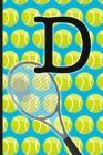 D: Tennis Monogram Initial Notebook for boys Letter D - 6