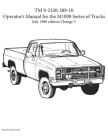 TM 9-2320-289-10 Operator's Manual for the M1008 series of trucks Cover Image