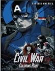Captain America Civil War Coloring Book: Coloring Book for Kids and Adults with Fun, Easy, and Relaxing Coloring Pages Cover Image