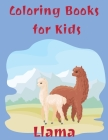 Coloring Books for Kids Llama: Cute Llama Gifts for Girls Age 8 Cover Image