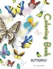 Butterfly Coloring Book: Butterfly Coloring Book For Adults Coloring Book with Adorable Butterflies with Beautiful Floral Patterns For Relievin Cover Image