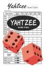 Yahtzee Score Pads: 100 Yahtzee Score Cards - 6