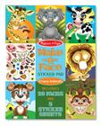 Make-A-Face Sticker Pad: Crazy Animals Cover Image