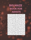 Big Maze Book For Adults: 100 Mazes Book Cover Image