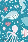 Password Book: Include Alphabetical Index With Cute Seamless Pattern Fish Whale Octopus Cover Image