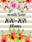 Monthly Budget Planner 2020-2021: 2 year Daily Weekly & Monthly Calendar Expense Tracker Organizer For Budget Planner And Financial Planner Workbook w Cover Image