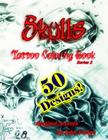 Skulls Tattoo Coloring Book Cover Image