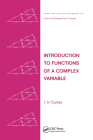 Introduction to Functions of a Complex Variable (Chapman & Hall/CRC Pure and Applied Mathematics #44) Cover Image