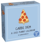 A 2021 Punny Day-to-Day Calendar by @rockdoodles: Carbe Diem Cover Image