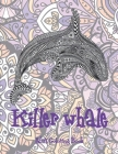 Killer whale - Adult Coloring Book Cover Image